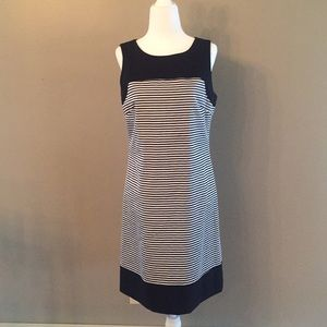 Pink Tartan Black and White Striped Dress